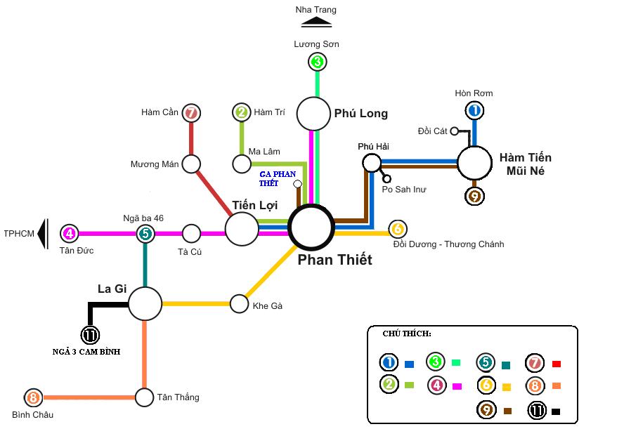 Mui Ne bus map - getting around mui ne
