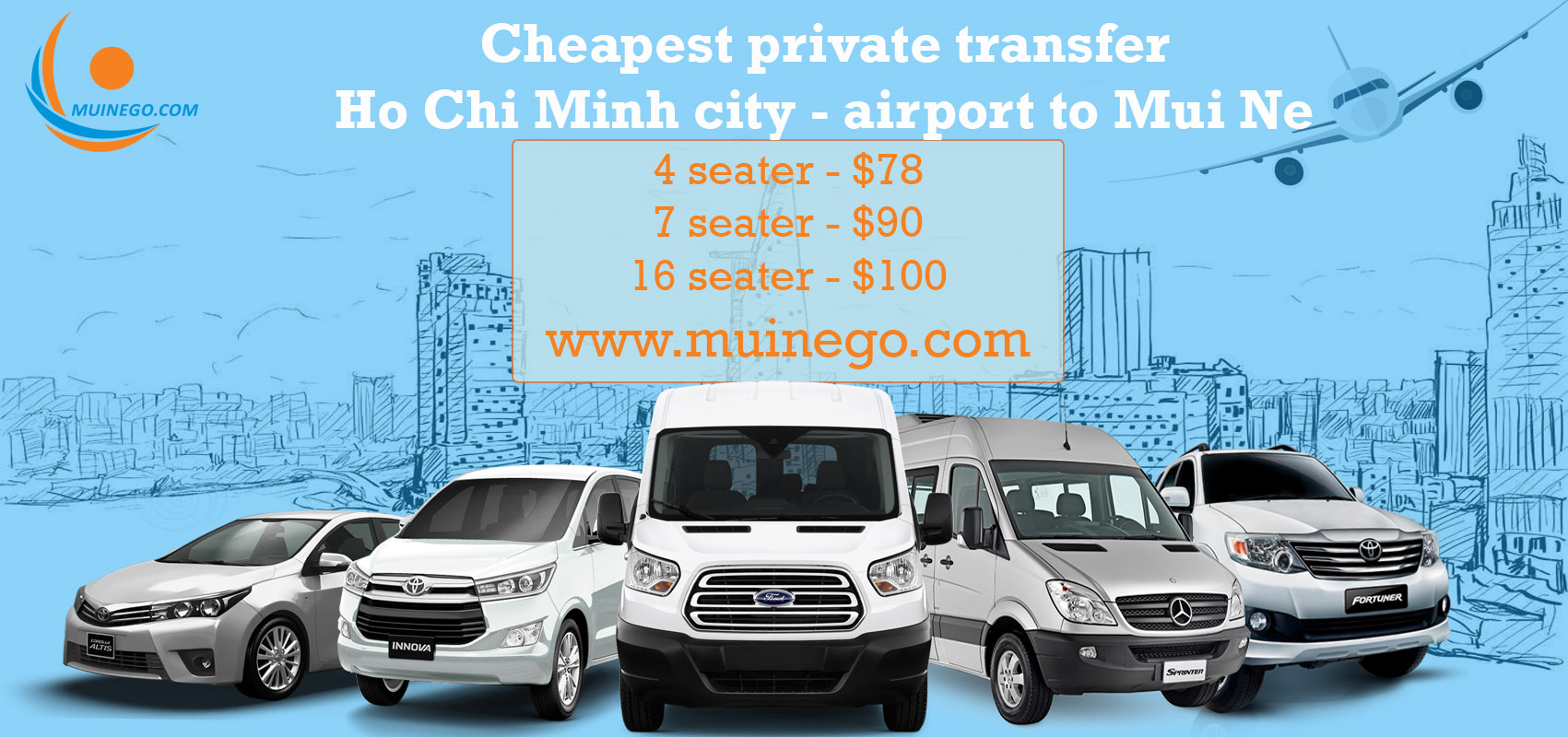 private transfer from ho chi minh to mui ne